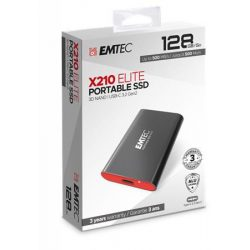 "SSD (külső memória), 128GB, USB 3.2, 500/500 MB/s, EMTEC ""X210"""