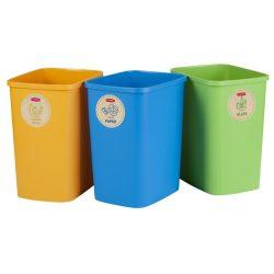 """Szelektív hulladékgyűjtő szemetes, műanyag, 3x25 liter, CURVER """"ECO Friendly"""""""